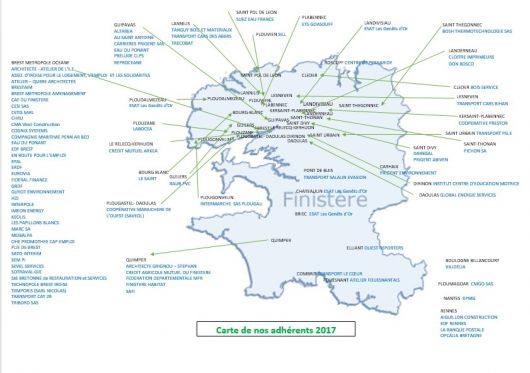 CARTE FINISTERE ADHERENTS 2017