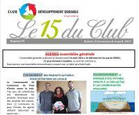 Bulletin 15 du Club N° 91